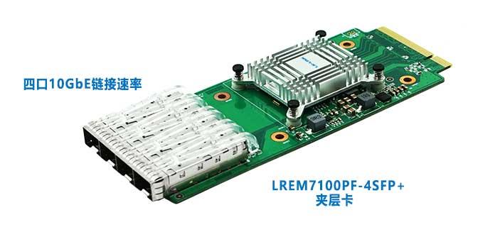 LR-LINK联瑞再出新品LREM7100PF-SFP+夹层卡