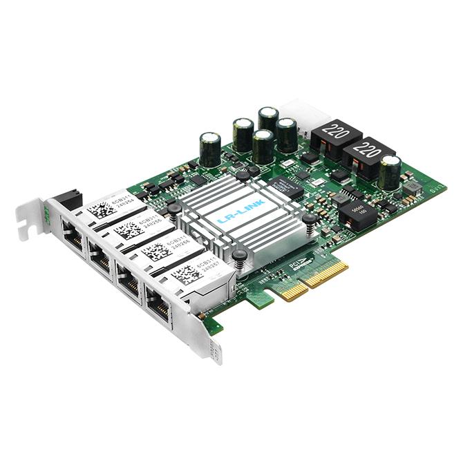 PCIe千兆四口/双口高性能PoE网卡(基于Intel I350AM4/I350AM2)